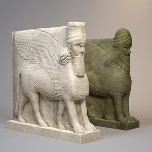 maya statues lamassu