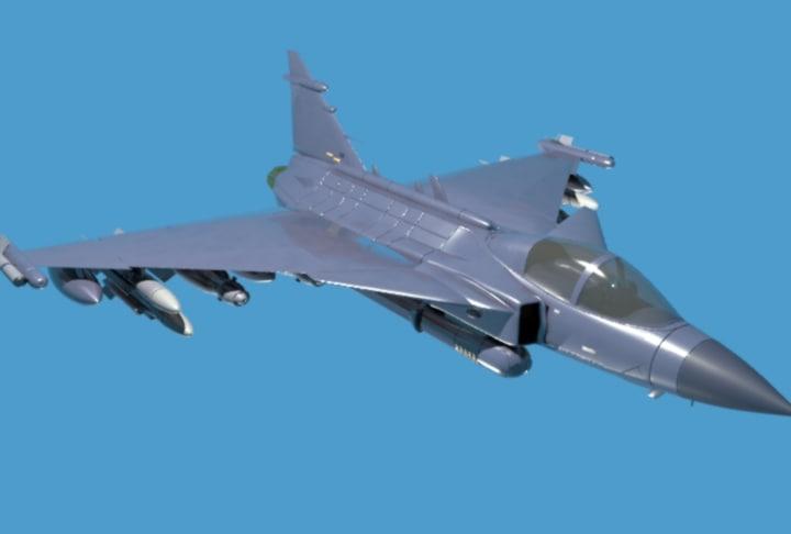 3d fighter jet model
