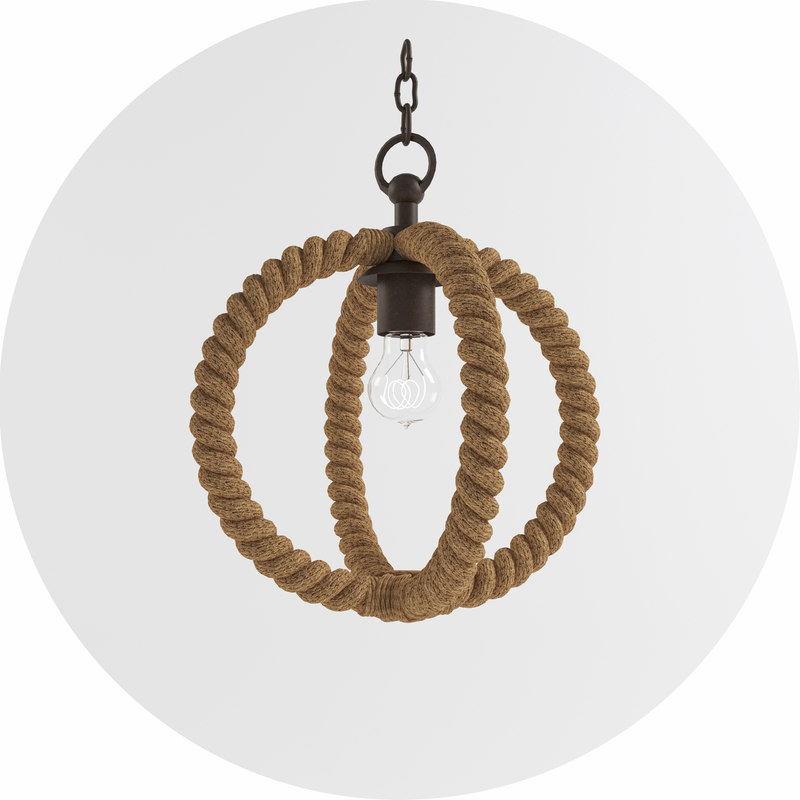 3d model bowline pendant