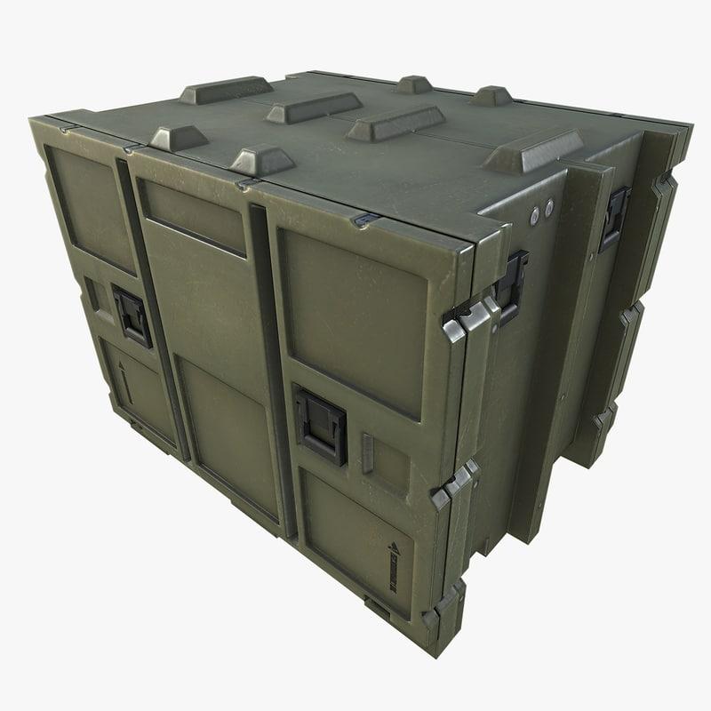 3dsmax military crate