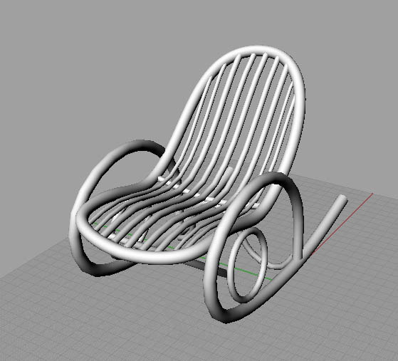 3ds classic rocking chair
