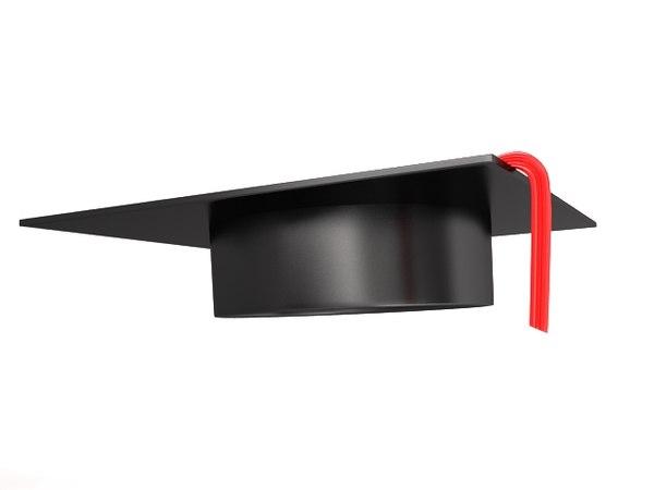 scholar hat 3d max