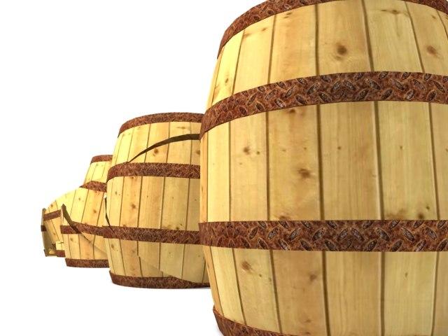 maya wood barrel