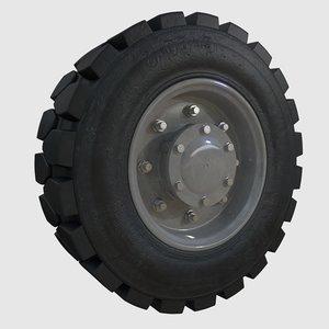 3d obj wheel