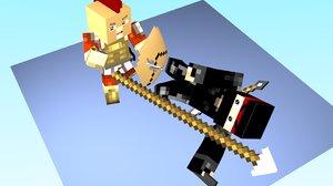 minecraft ninja spartan obj free