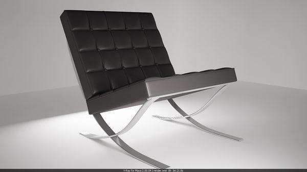 home chair 3d obj