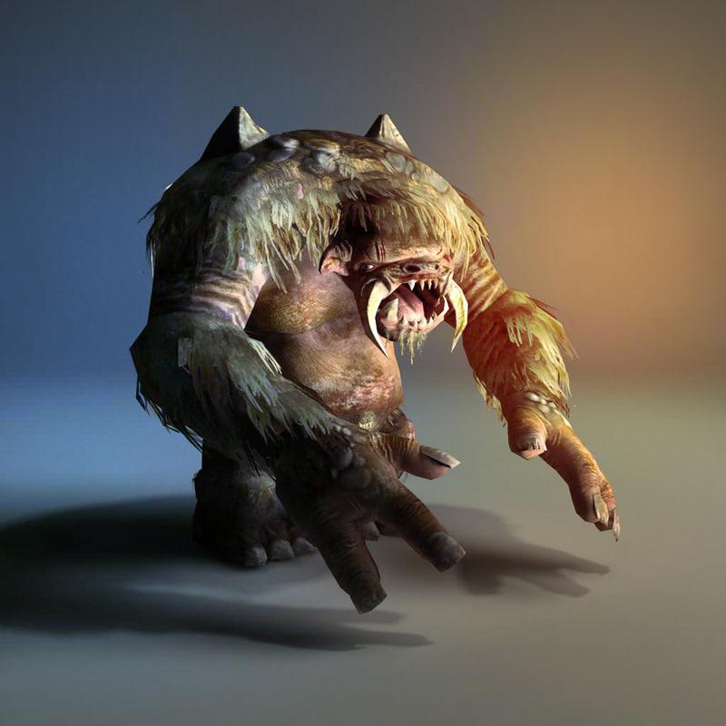 3d troll monster model