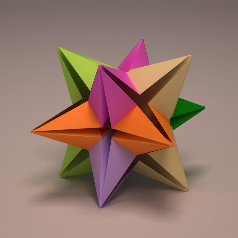 Origami star 3d max for 3d star