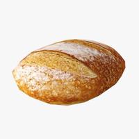 bread loaf 3d obj