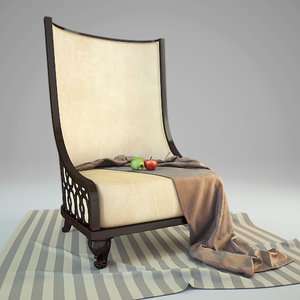 bruno zampa armchair 3d max