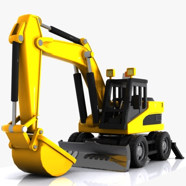 cartoon excavator car max