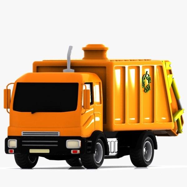 3dsmax toon garbage truck