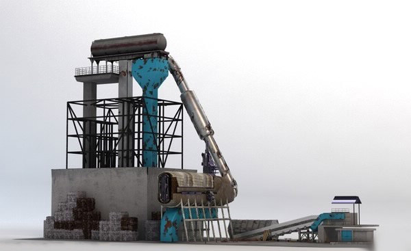 recycling plant facility 3d lwo