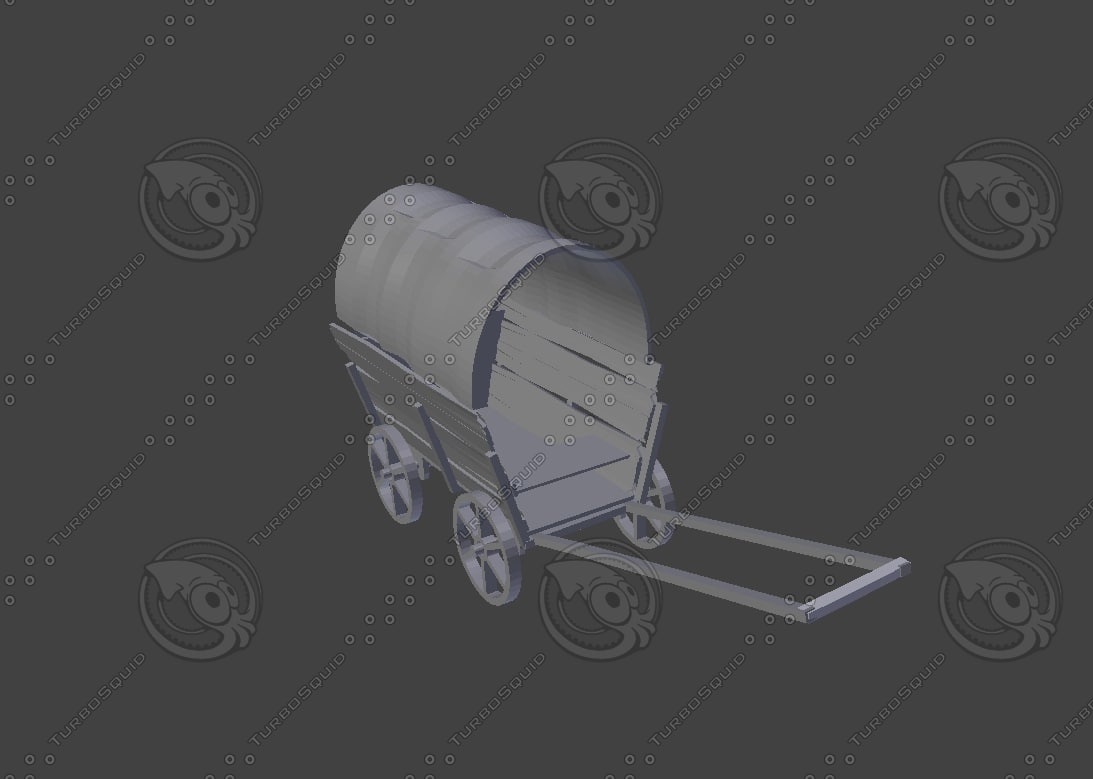 3d model wagon