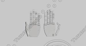 dwg plastic mechanic hands