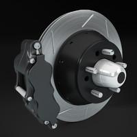3d model brake disc