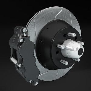 brake disc 3d max