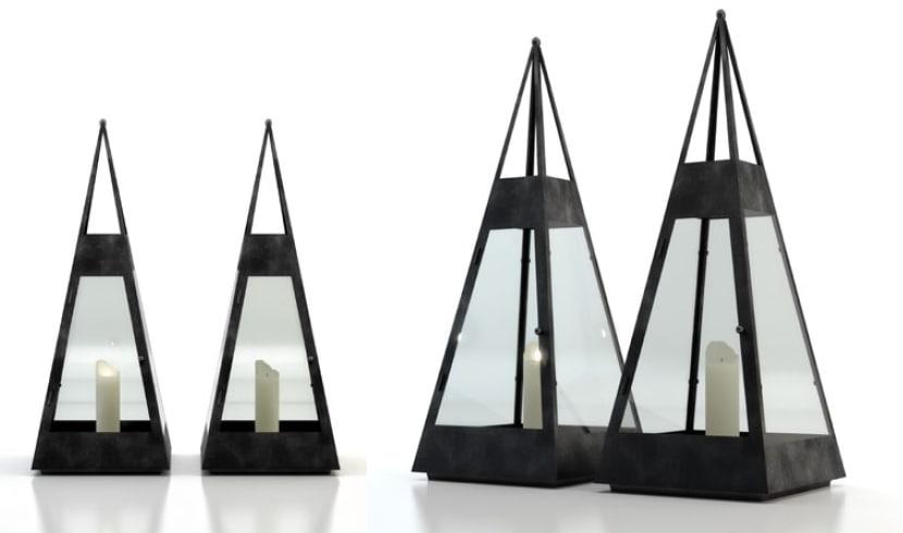 3d lanterns candles