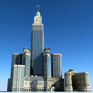 abraj al bait towers 3d model