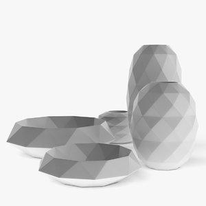 bosa cut vase 3d model