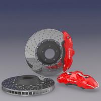 brembo brake 3d max