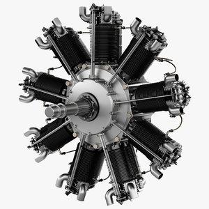 3d bristol jupiter engine 2