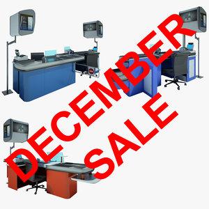 3d cash counter shop model