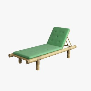 3d model chaise lounge 001