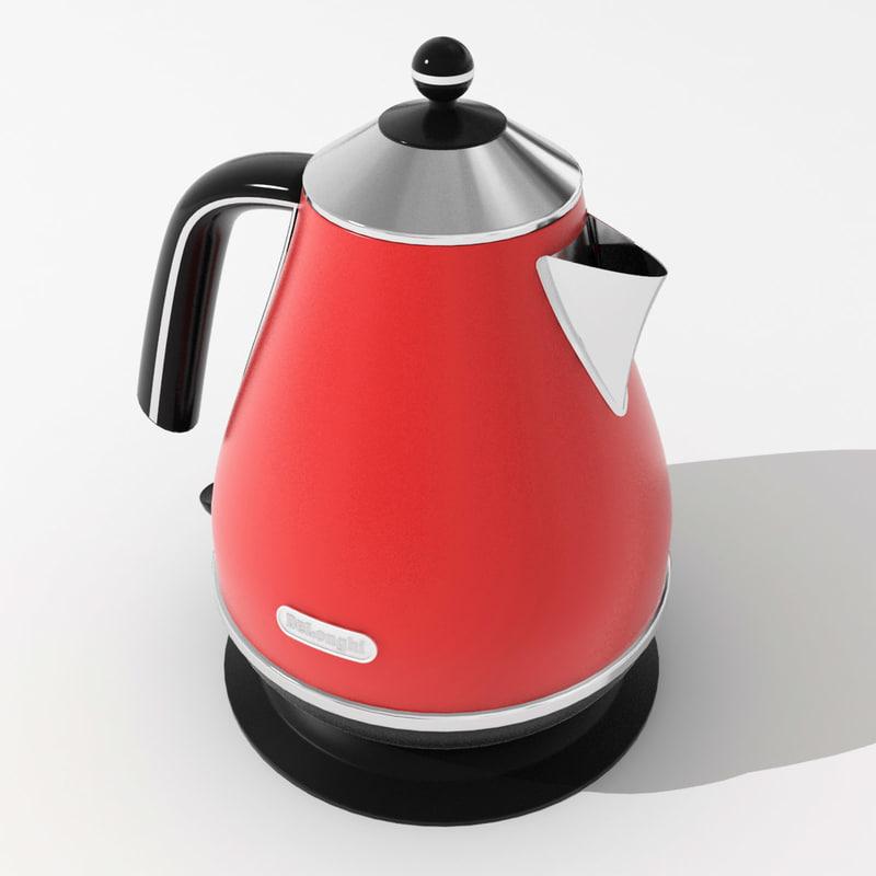 3d model electric kettle delonghi