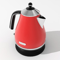3d model electric kettle delonghi
