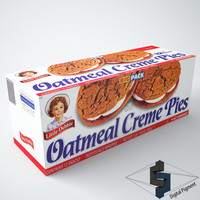 little debbie oatmeal cream 3d max