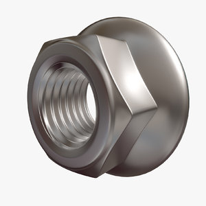 3d model hex nut flange