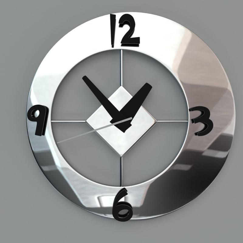 3d modern wall clock