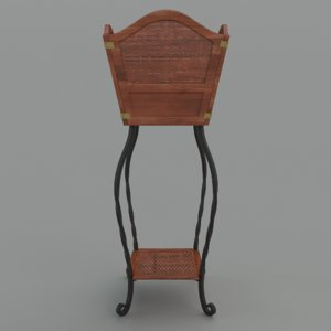 wrought iron plant stand 3d fbx