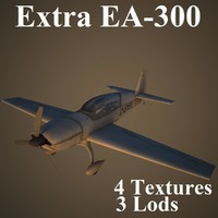 3d model extra low-poly aerobatic