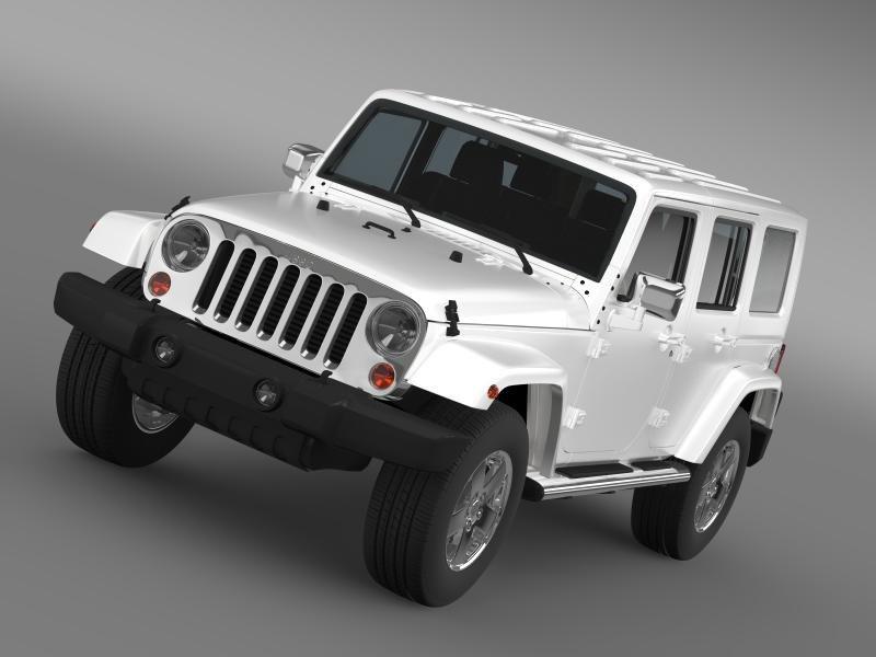 3d jeep wrangler unlimited envi model