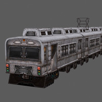 3d model train hand painted