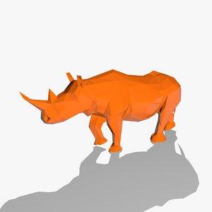 3d model of rhino style