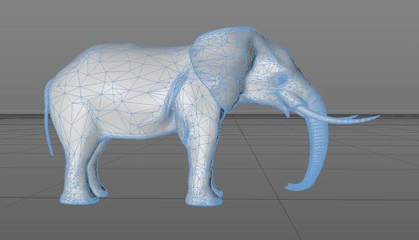 cinema4d elephant
