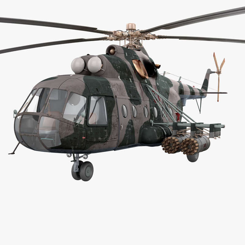 soviet transport helicopter mil 3d model