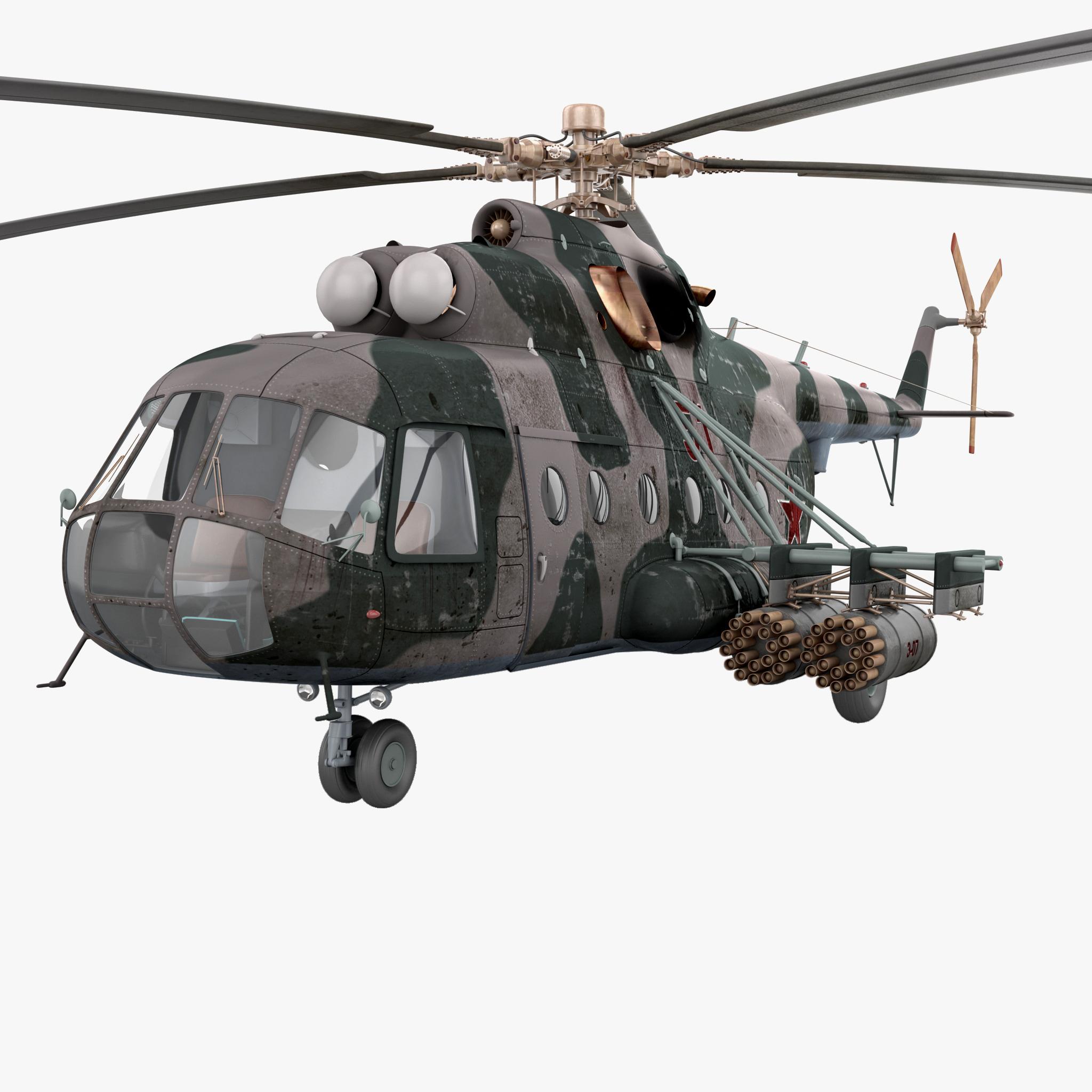 soviet transport helicopter mil 3d model