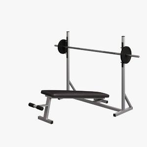 fitness supine bench 005 obj