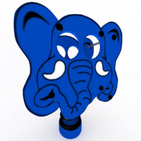 3d model of elephant spring