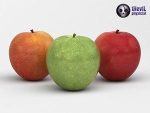 3d apples model