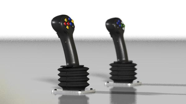 3d max photorealistic joystick