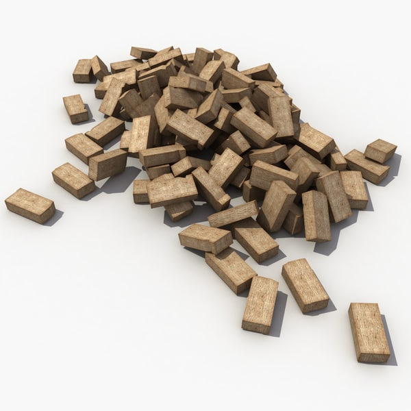 3d model bricks modeled materials