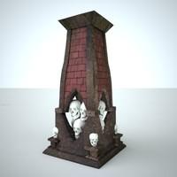 column iv 3d model