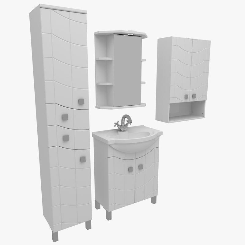 bathroom furniture 3d max