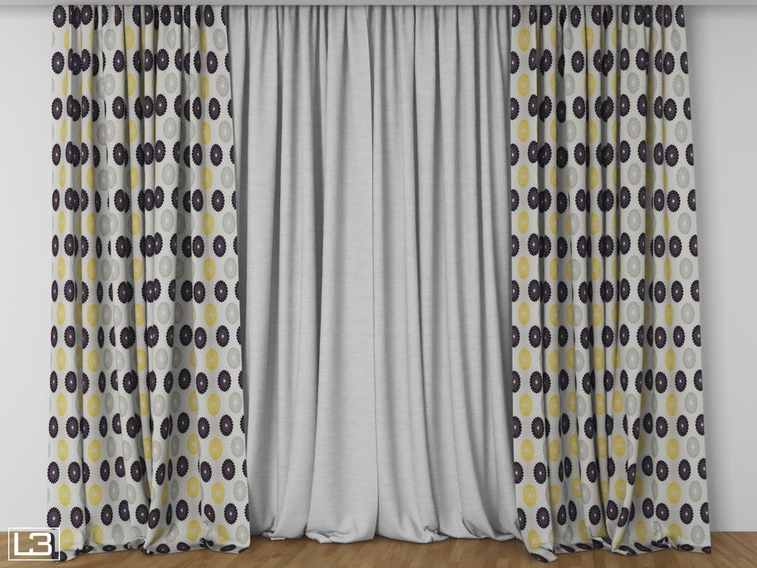 3d model hall curtain