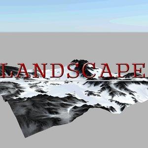 terrain realistic 3d obj